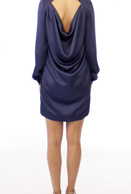 """Тъмно синя рокля """"Lagune"""" - от HANNA"""