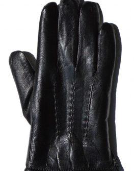 Мъжки ръкавици Styler от черна кожа