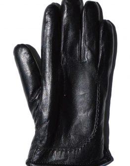 Мъжки черни ръкавици от естествена кожа – от Styler