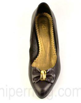Елегантни тъмно кафяви дамски обувки - от Balis