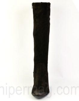 Ефектни дамски ботуши от черен велур - от Balis