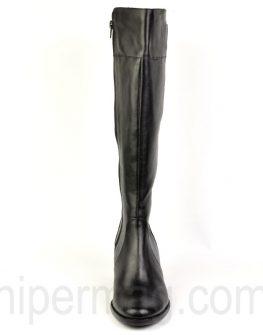 Дамски кожени ботуши Balis - цвят черен
