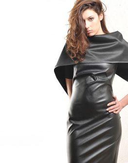 Екстравагантна кожена рокля – от La Speciale