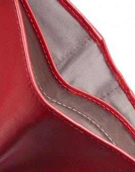 Стилен червен дамски портфейл Samsonite от естествена кожа