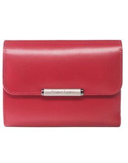Елегантен червен портфейл Samsonite от естествена кожа