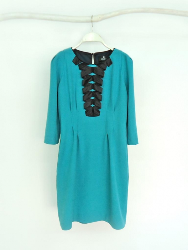 """Романтична рокля """"NICOLE"""" в цвят тюркоаз - от HANNA"""