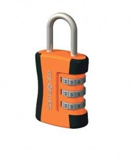 Kатинарче за багаж оранжево с черно с троен шифър