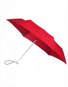 Червен тройно сгъваем ръчен чадър Samsonite