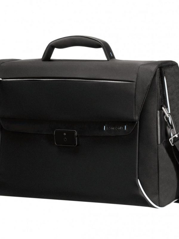 Черна бизнес чанта Samsonite с 2 прегради Spectrolite