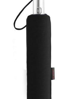 Тройно сгъваем автоматичен чадър (черен)
