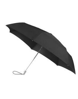 Четворно сгъваем автоматичен чадър Samsonite в черно