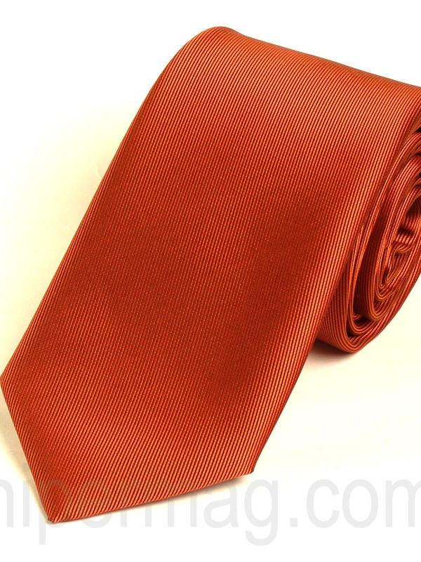 New Style мъжка вратовръзка - цвят керемида