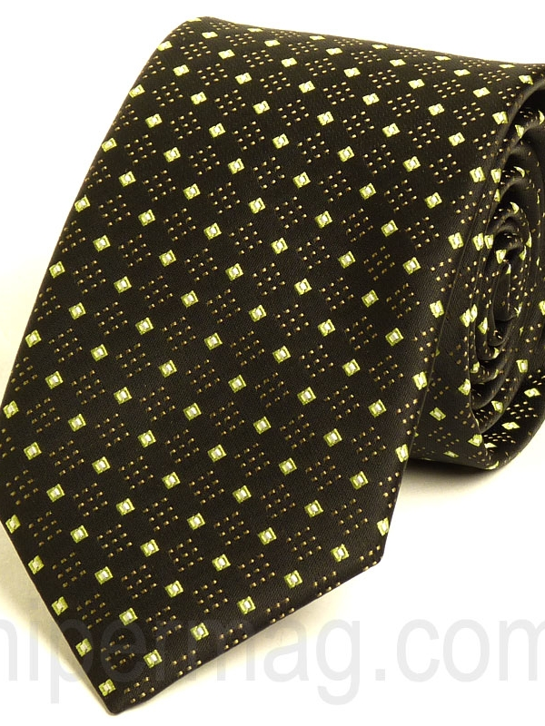 Красива мъжка вратовръзка New Style в тъмнокафяво