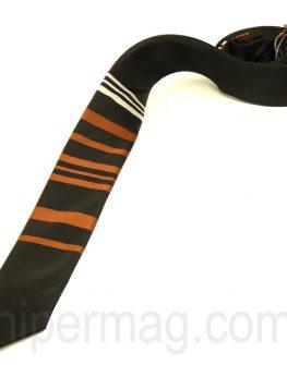 Ръчно изработена мъжка вратовръзка от New Style в черно и кафяво