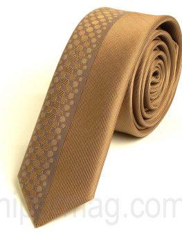Красива мъжка вратовръзка New Style в златист цвят
