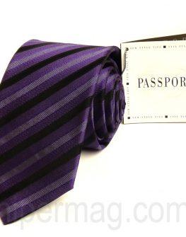 Красива мъжка вратовръзка New Style с десен лилави райета