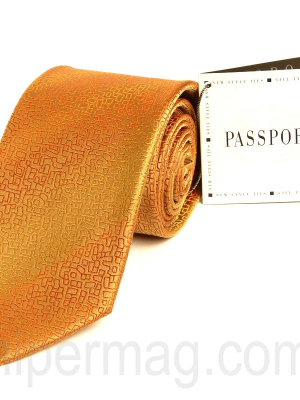 Оранжева мъжка вратовръзка New Style