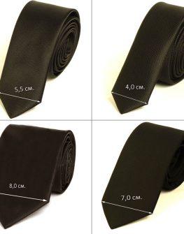 Кафява мъжка вратовръзка New Style с десен райета