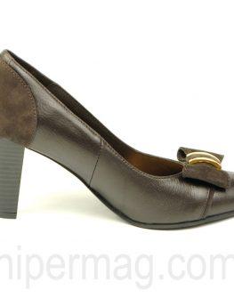 Тъмнокафяви затворени дамски обувки - Balis