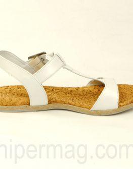 Удобни дамски сандали Balis в бял цвят