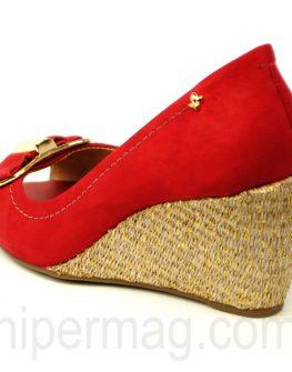 Красиви дамски обувки Cravo & Canela в червен цвят