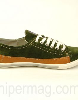 Дамски обувки Cravo & Canela в зелен цвят