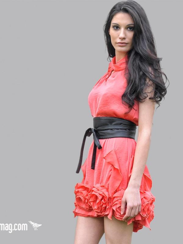 Ефирна рокля LaSpeciale – цвят корал