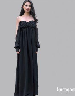 Ефирна дълга черна рокля – LaSpeciale