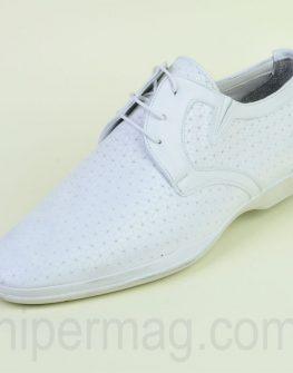 Елегантни бели мъжки обувки Sara Pen
