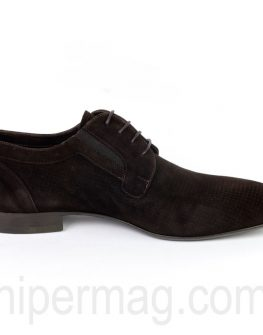 Официални мъжки обувки Sara Pen в тъмнокафяв цвят