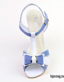 Сандали Balis в бяло и синьо