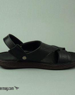Черни мъжки сандали от естествена кожа