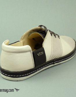 Мъжки обувки с връзки в бежово и кафяво
