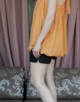 Фееричен дамски потник от AGGATA в оранжев цвят