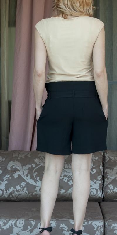Еластична дамска блуза на два пласта - AGGATA