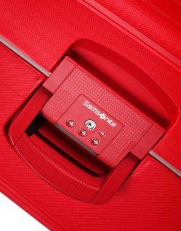 Спинер на 4 колела S'Cure 75 см пурпурно червен цвят - Samsonite