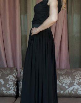 Черна дамка блуза на два пласта от AGGATA