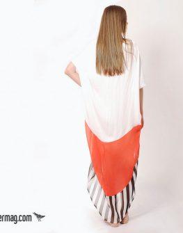 Ефирна рокля с десен в три цвята - LaSpeciale