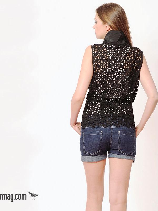 Къси тъмносини дънкови панталонки LaSpeciale