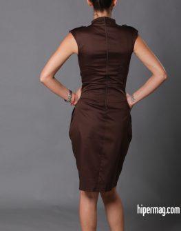 Елегантна кафява рокля Aggata
