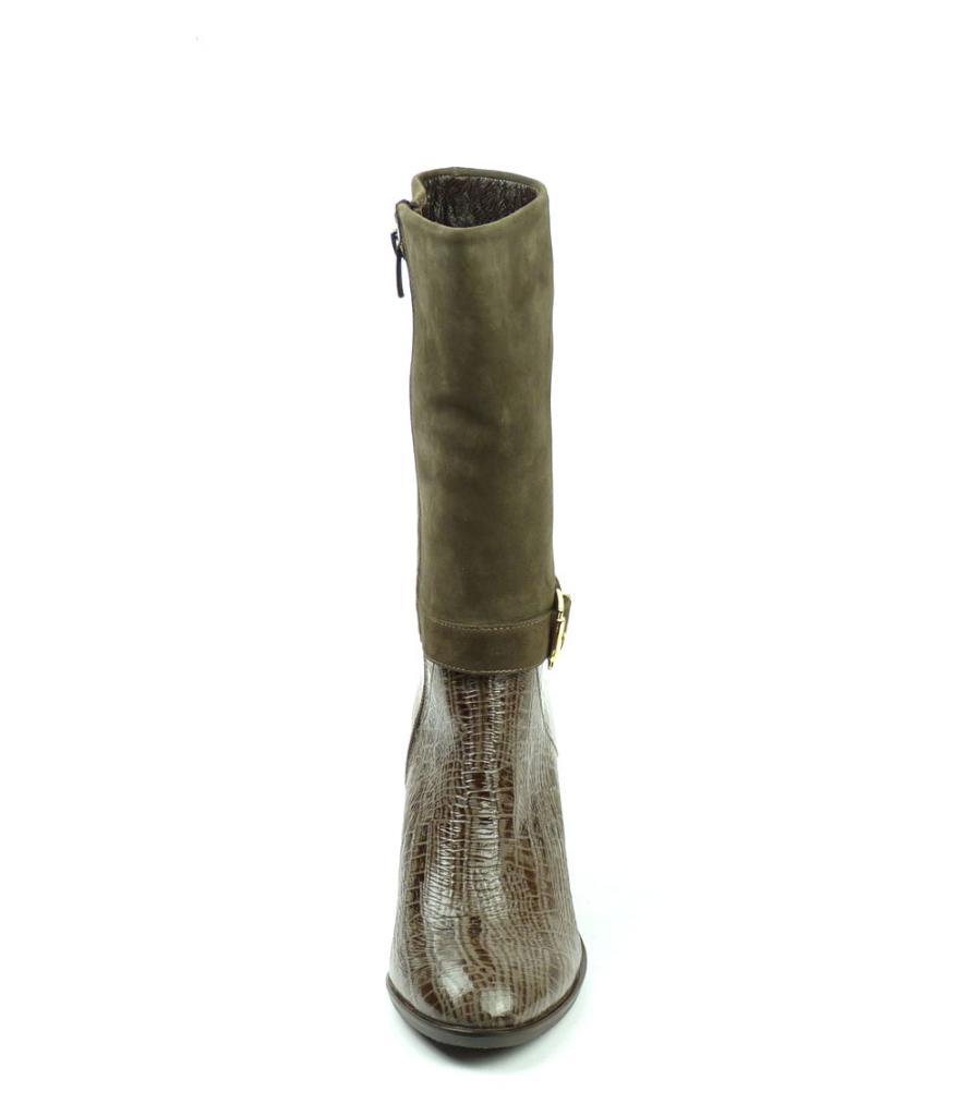 Дамски ботуши на ток, цвят визон - Sara Pen