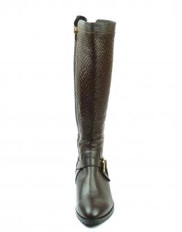 Красиви спортно-елегантни ботуши, релеф питон, Sara Pen