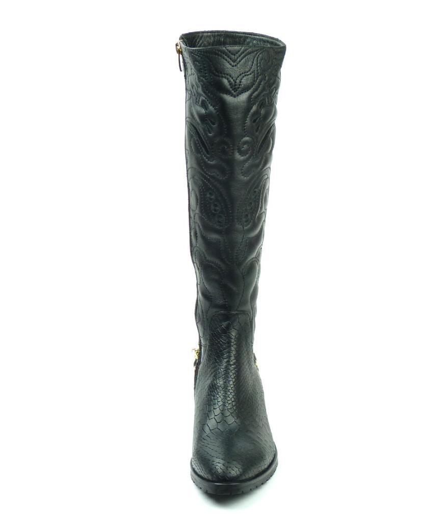 Ефектни зимни ботуши от естествена кожа, Sara Pen