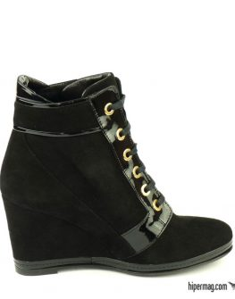 Дамски спортни обувки от черен велур - Sara Pen
