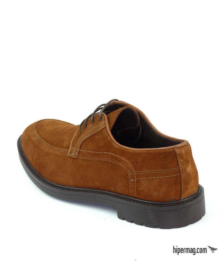 Кафяви мъжки обувки от велур Sara Pen