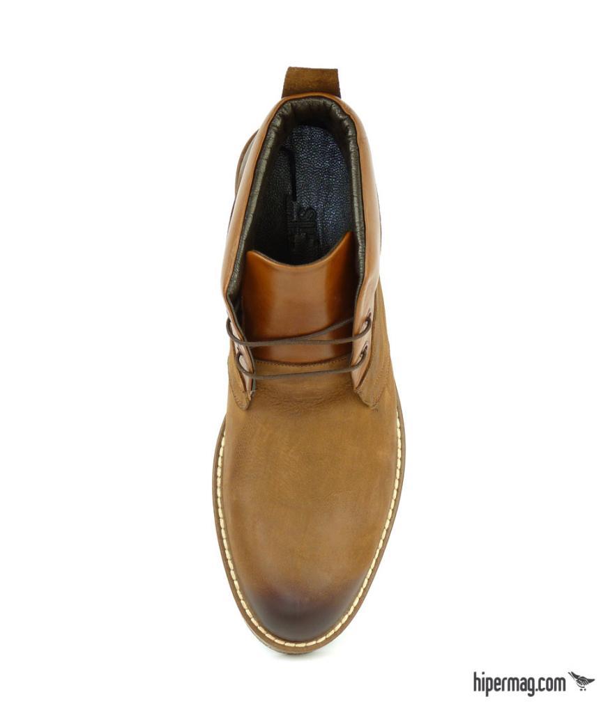 Високи мъжки обувки, светлокафяв цвят