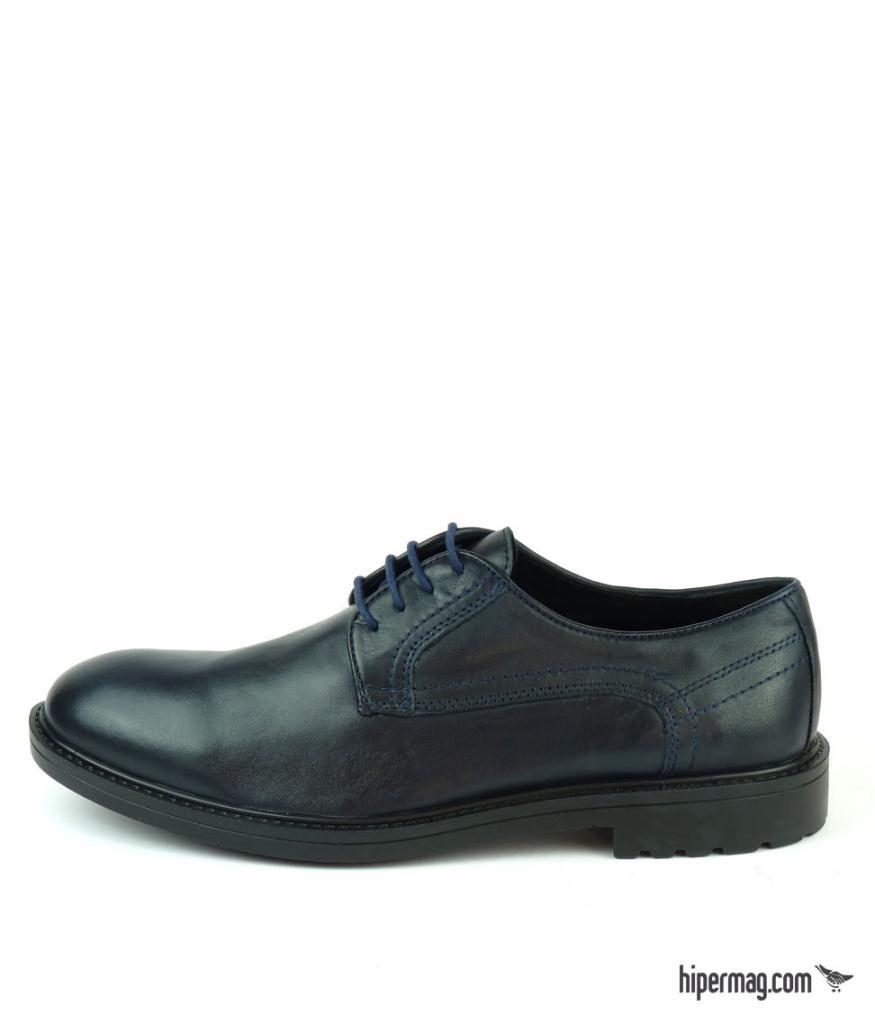 Тъмносини мъжки обувки от естествена кожа, Sara Pen