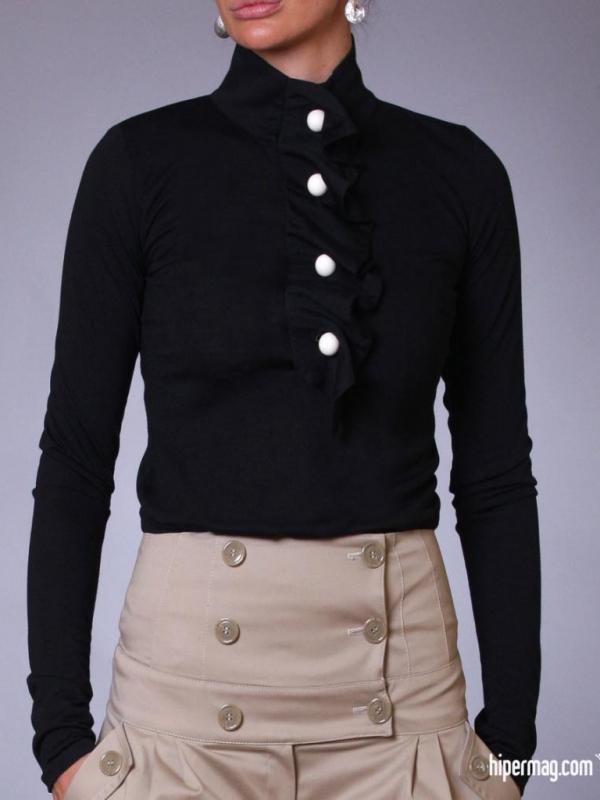 Черна дамска риза Aggata