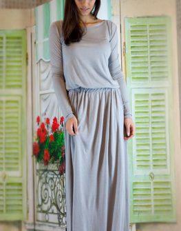 Дълга рокля със свободен силует Aggata