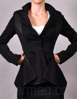 Дизайнерски костюм – сако и панталон в черно La Speciale